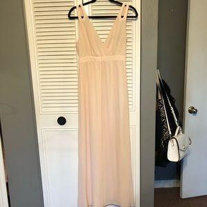 Forever 21 Long Peach/Cream Elegant Dress